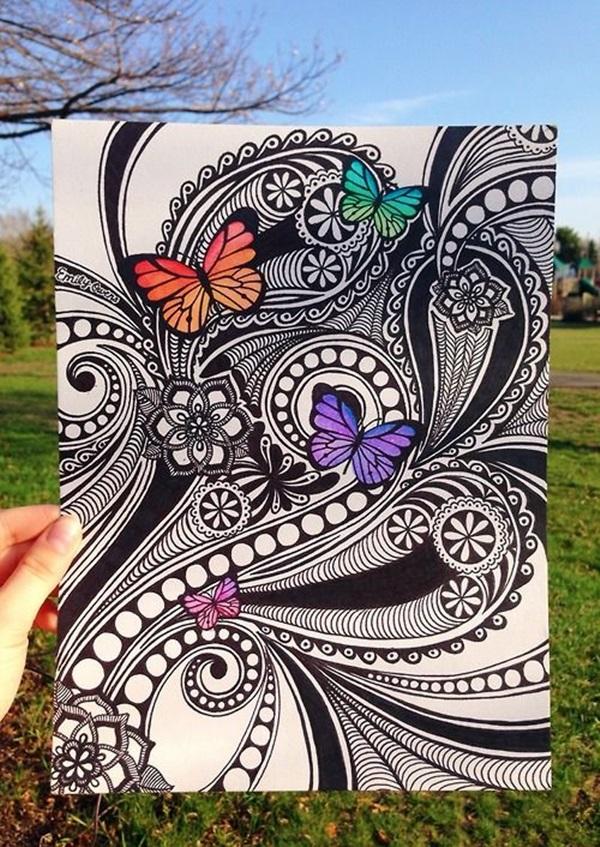 Beautiful Zentangle patterns