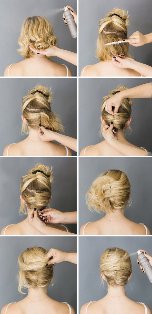 Few Easy Short Hair Updo Tutorials We Know How To Do It
