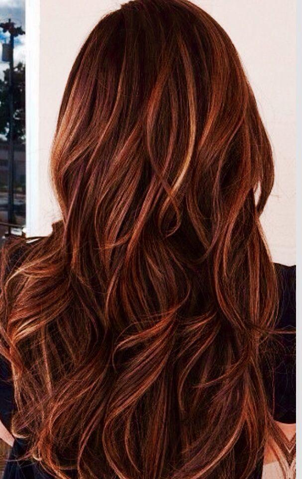 Hair with caramel highlights
