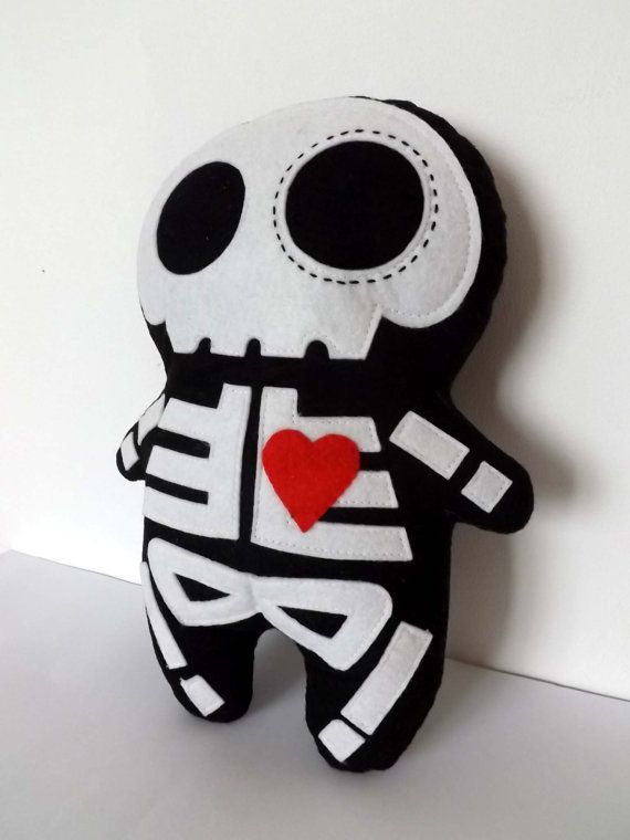 Skeleton Plush Sugar Skull Doll By Thedollcityrocker We