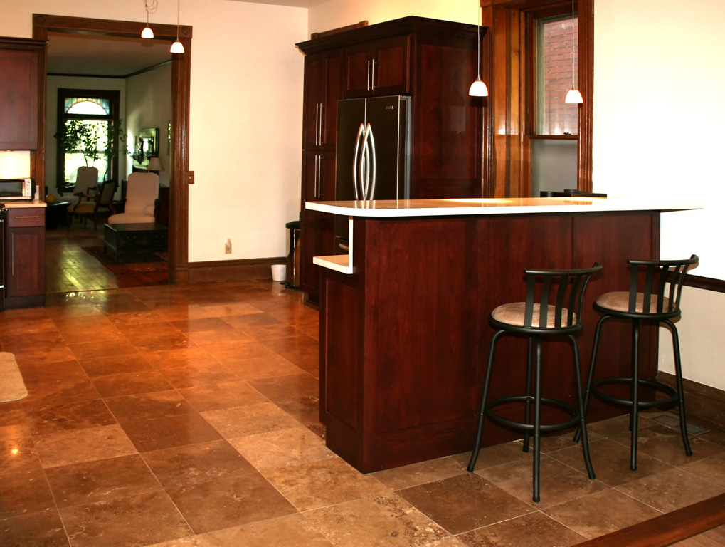 using a commercially available stone floor poultice a stone floor - Stone Flooring For Kitchen