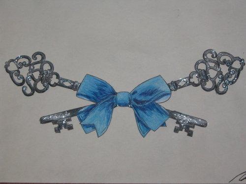 Bow keys tattoo design by ~dark-wh1sp3rs -   Bow Key Tattoo Design Ideas