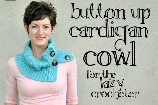 How To Cut a Sweater and Secure The Yarn So it Doesn't Unravel:  Button Up Cardigan Cowl (Old Sweater Refashion)