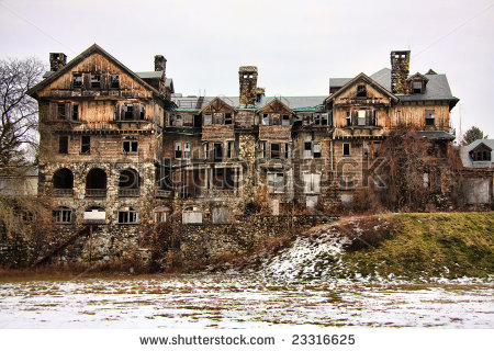 Ruins Of An Abandoned Building In Millbrook, New York