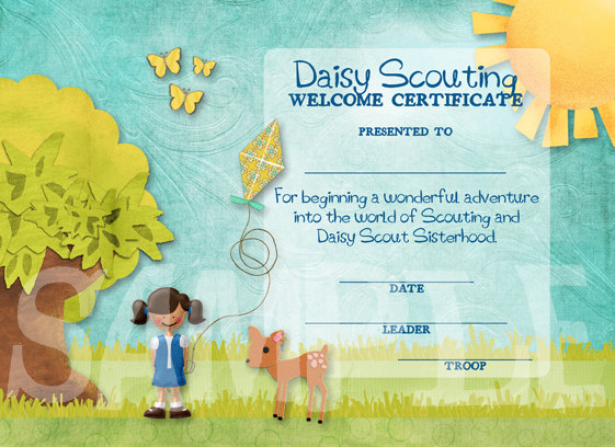 Girl Scouts Daisy Welcome Certificate Ideas | We Know How ...