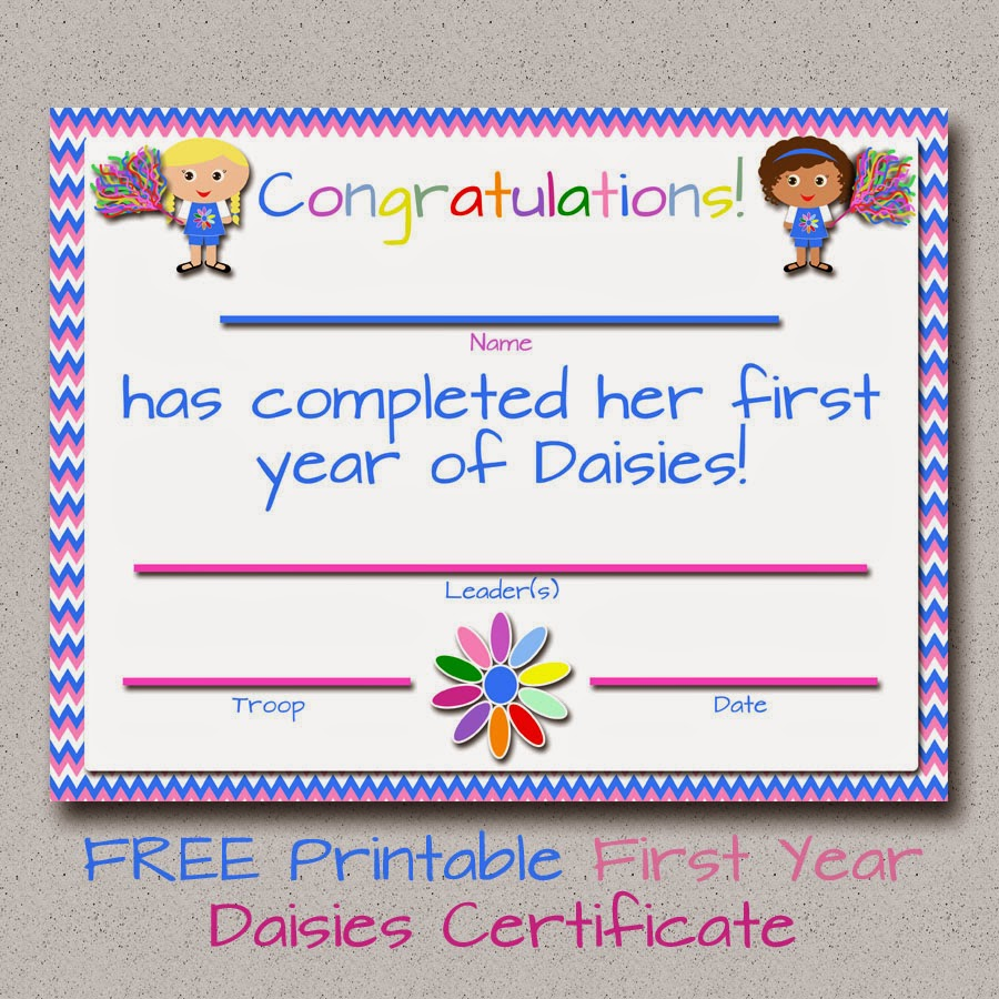 Girl Scouts Daisy Welcome Certificate Ideas