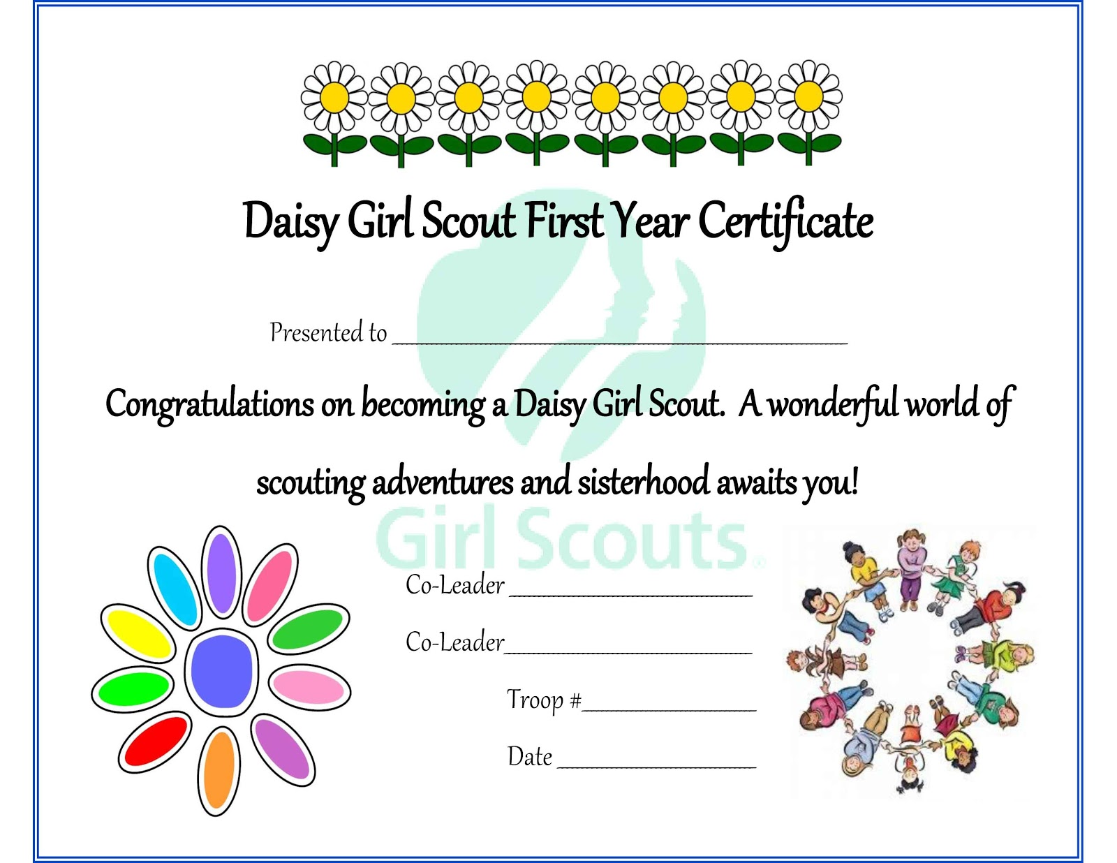 photograph about Girl Scout Certificates Printable Free known as Lady Scouts Daisy Welcome Certification Guidelines We Notice How In the direction of