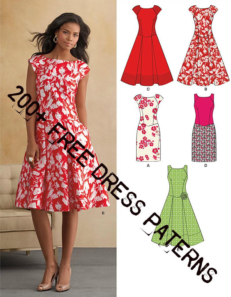 200+ Free Dress Patterns