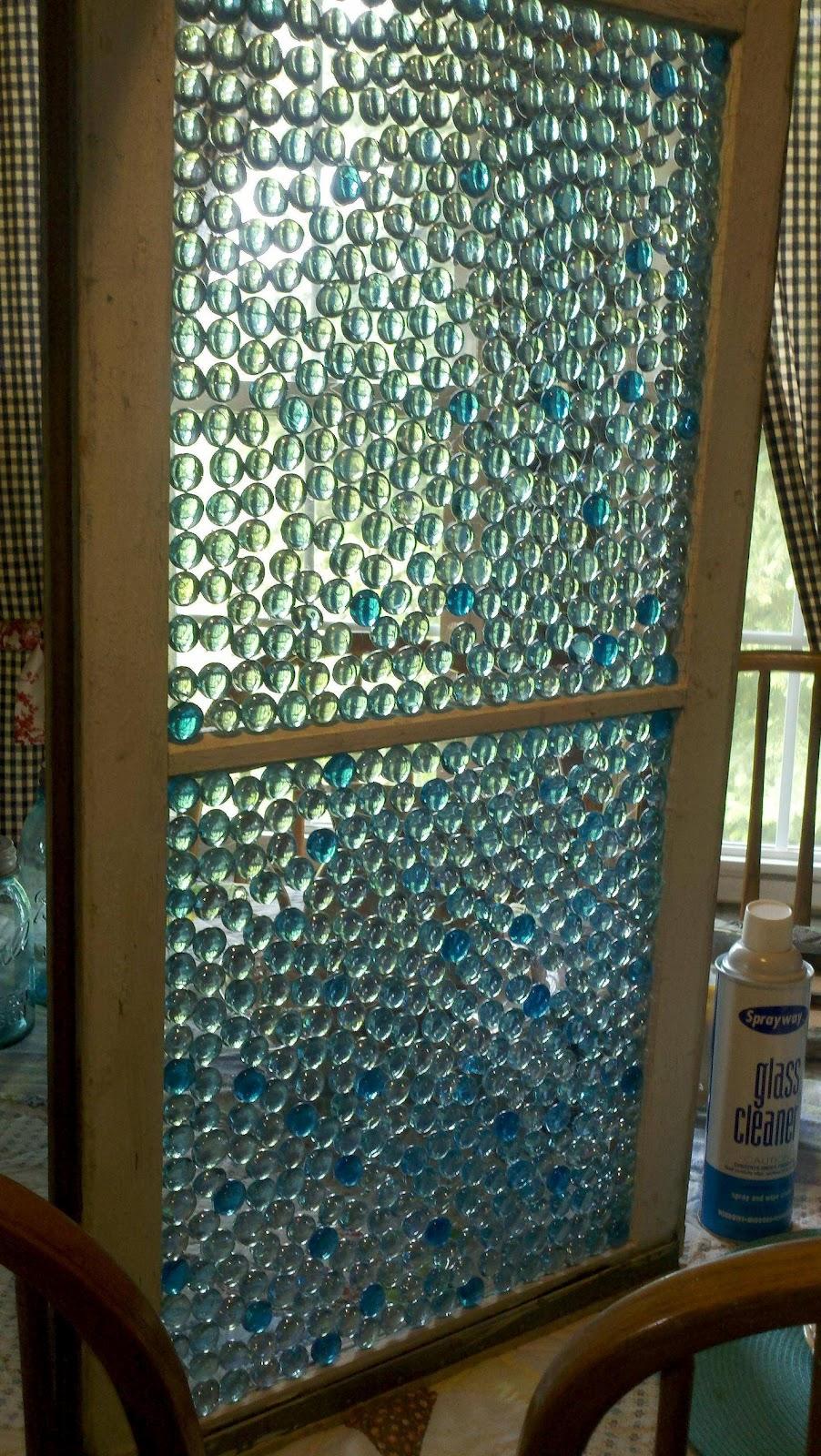 How create stain glass window look