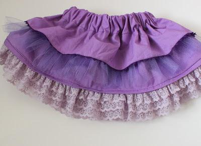 Easy Ruffled Skirt Sewing Pattern