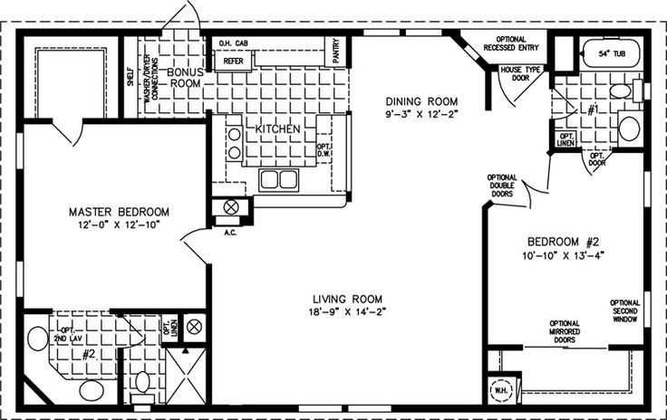 1000 sq foot house plan