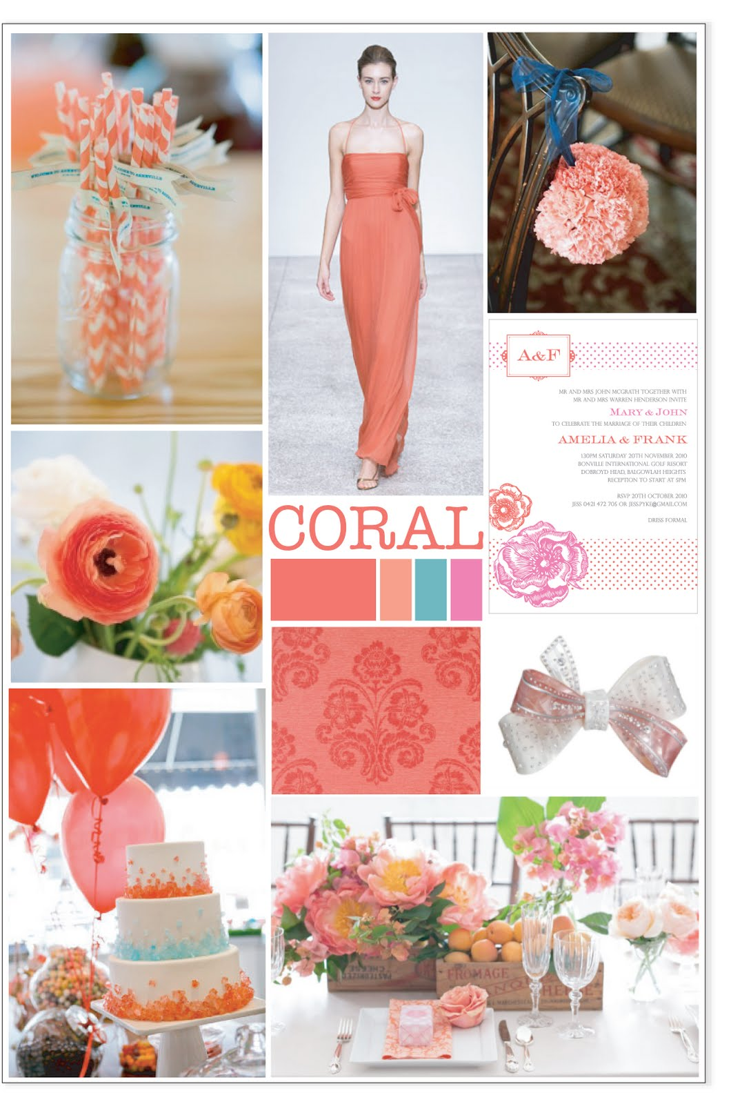 Coral Wedding Decor