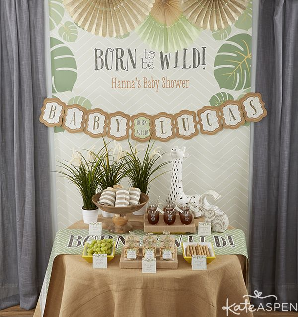 DIY Jungle Themed Party Favors -   Safari Themed Baby Shower Ideas