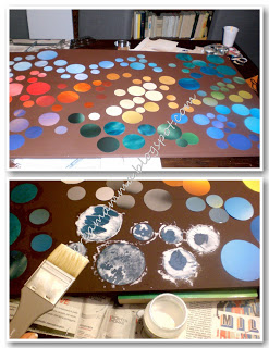 DIY Wall Art with magazine sheets