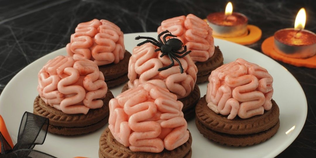6. Get to know the brain jam biscuits plus spiders! -   Halloween Food Ideas