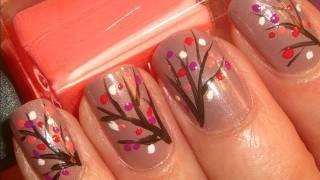 Fall leaf nails. Cute!
