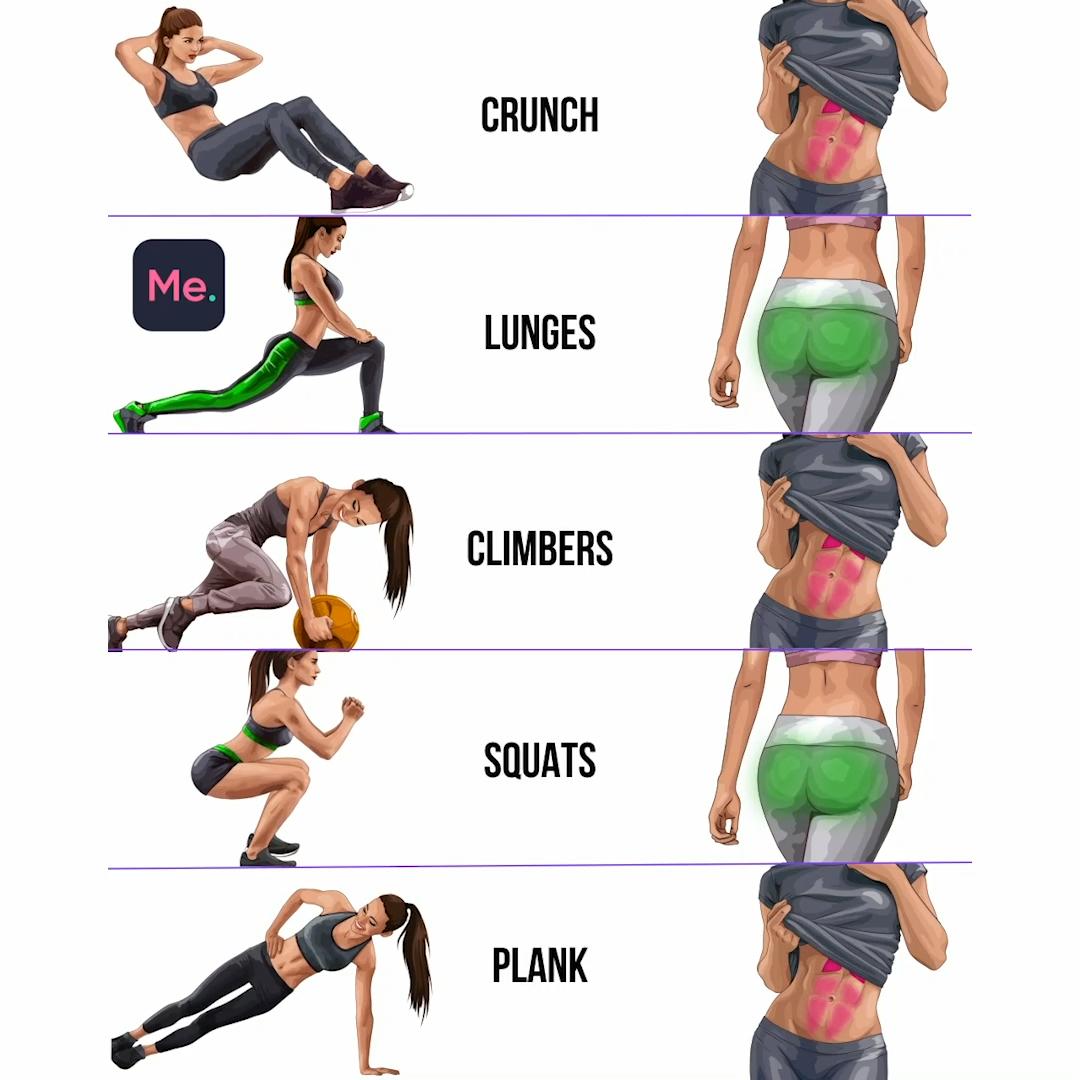 Get Slimmer in 28 Days with Effective Workout -   14 fitness workout ideas