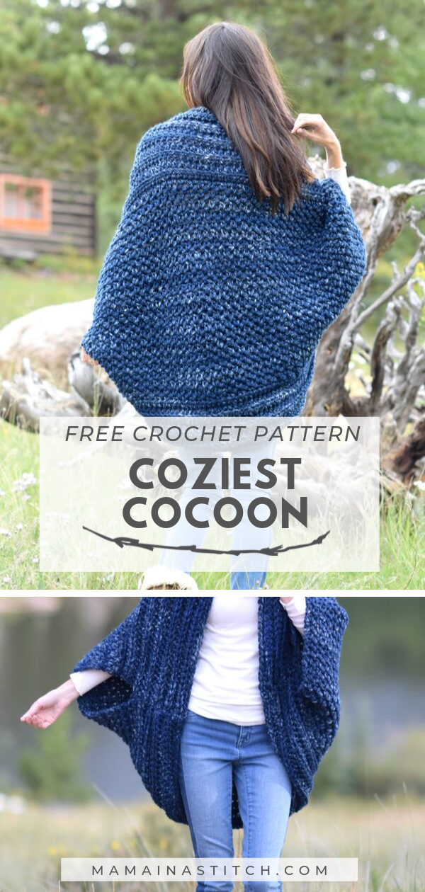 Coziest Cocoon Cardigan Easy Crochet Pattern -   17 knitting and crochet Projects crafts ideas